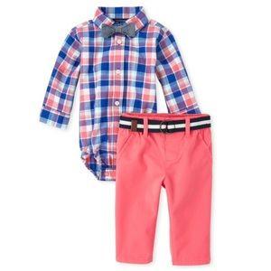 NWT Plaid Poplin Matching 4-Piece Outfit Set